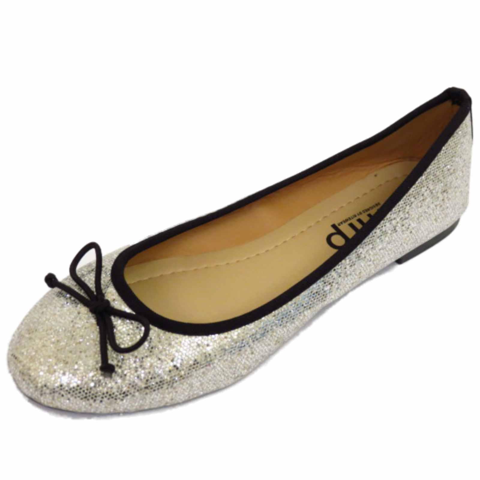 Mujer Plano Purpurina Sin Cordones Zapatos Muñequita Cómodo Ballet Bailarina