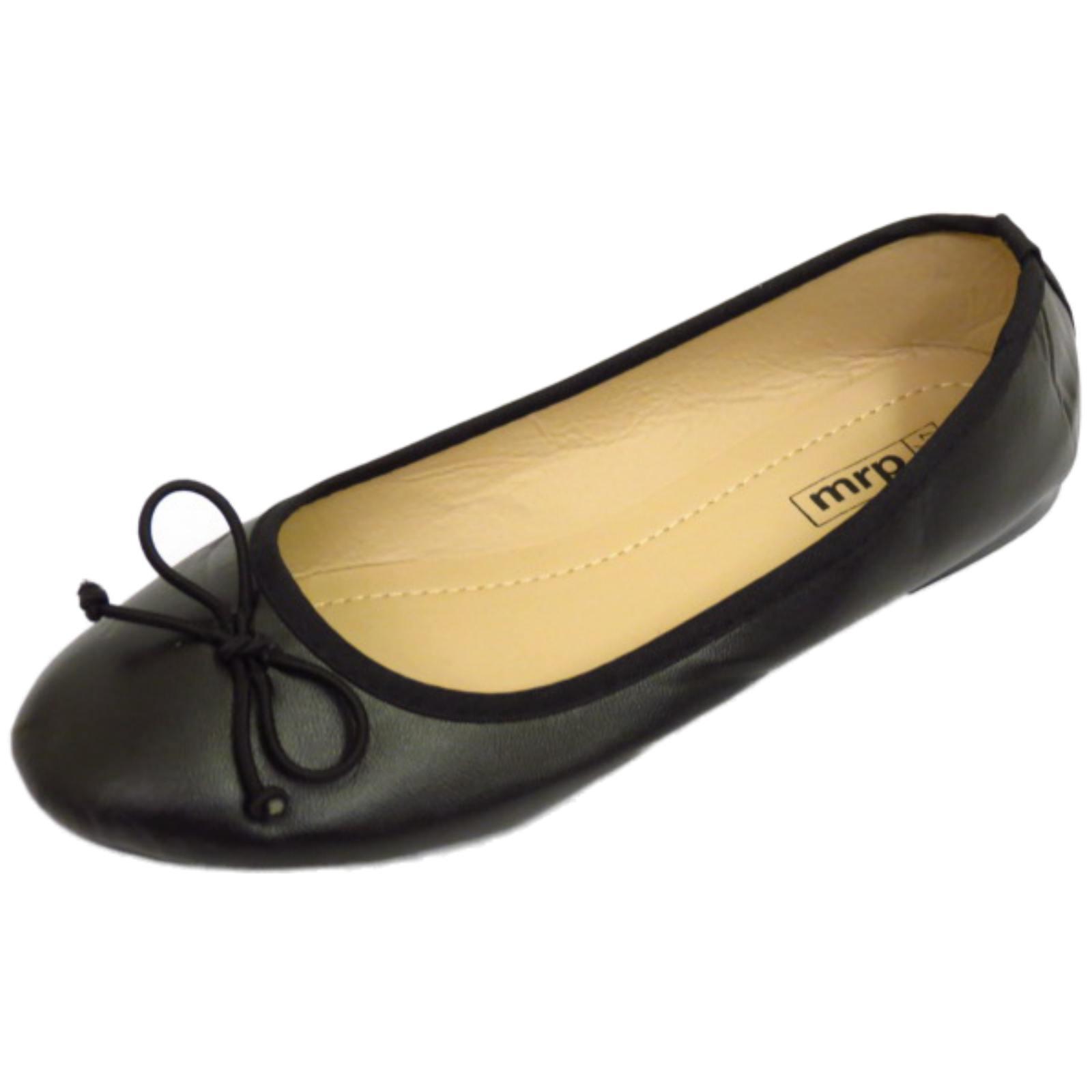 Trabajo para mujer Escuela Negro Plano Sin Cordones Zapatos Dolly cómodos bombas de ballet UK 3-8