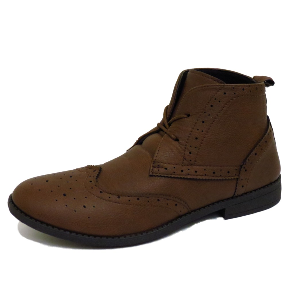 MENS-LACE-UP-BROWN-SMART-CASUAL-MILITARY-BROGUE-ANKLE-ARMY-BOOTS-SHOES-UK-6-11