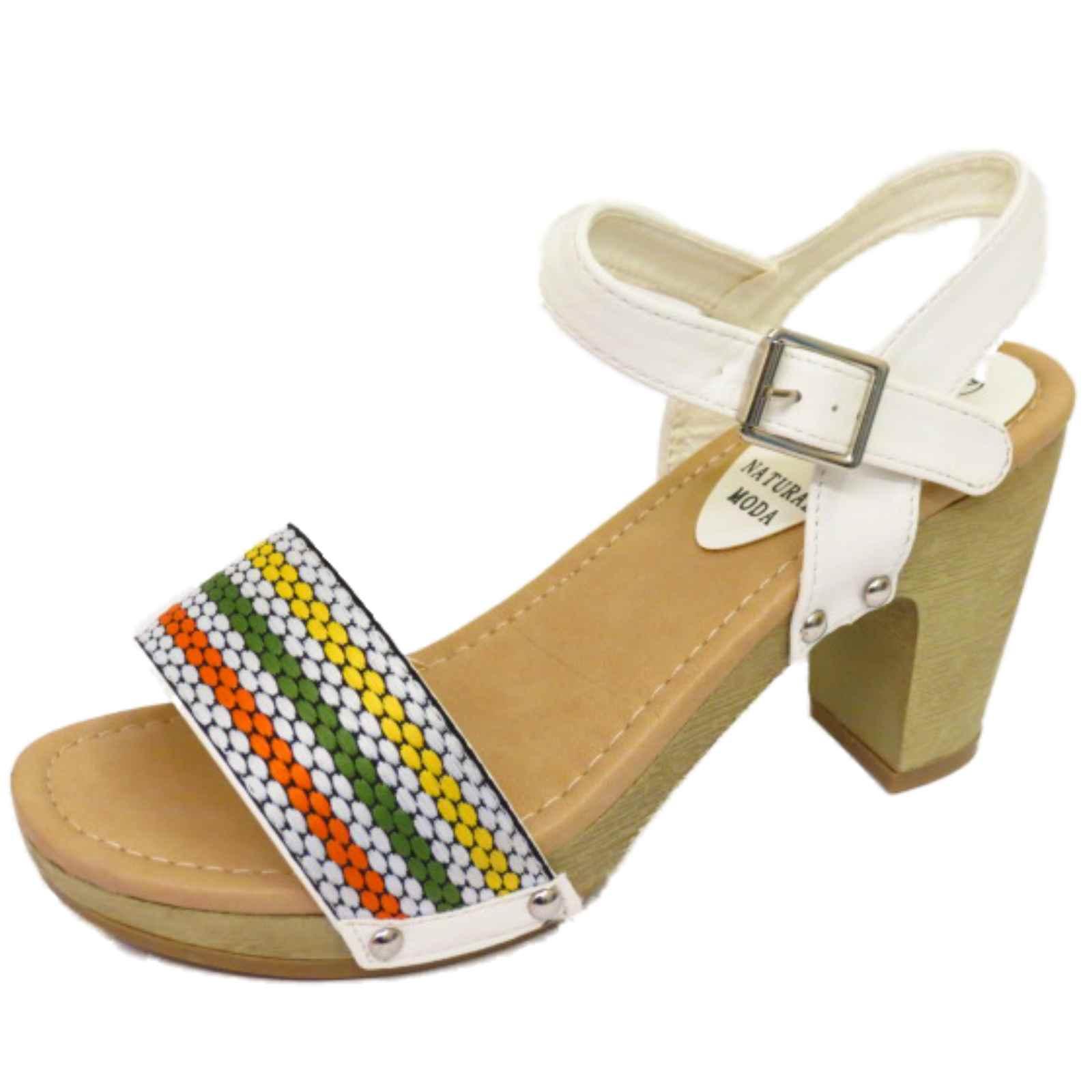 Mujer Blanca Slip-On Sin Puntera Sandalias De Tiras Zapatos De Vacaciones De Verano Zapatos De Salón 3-8