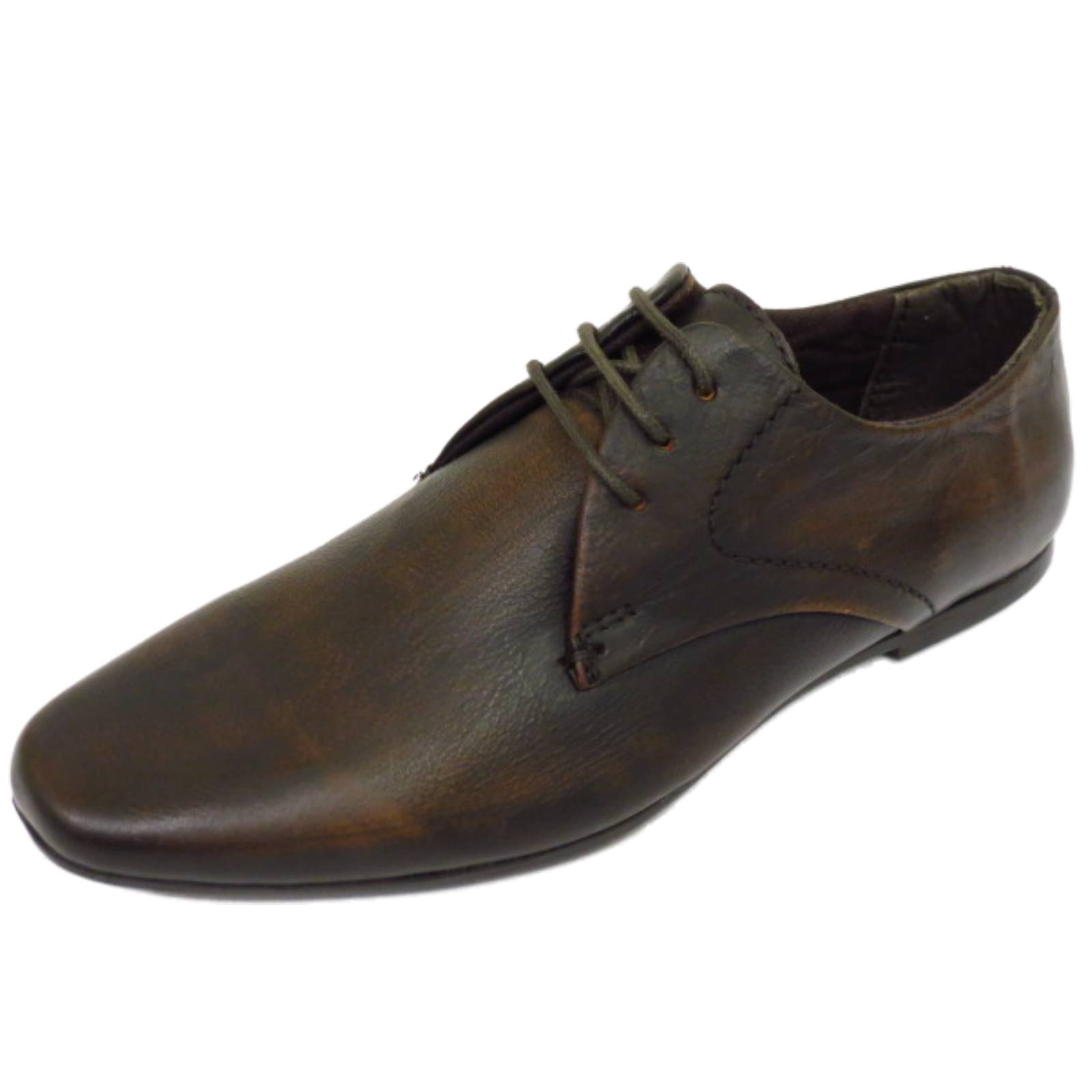 BOYS KIDS CHILDRENS BROWN LEATHER LACE-UP WEDDING SMART SUIT LOAFER SHOES 1-6
