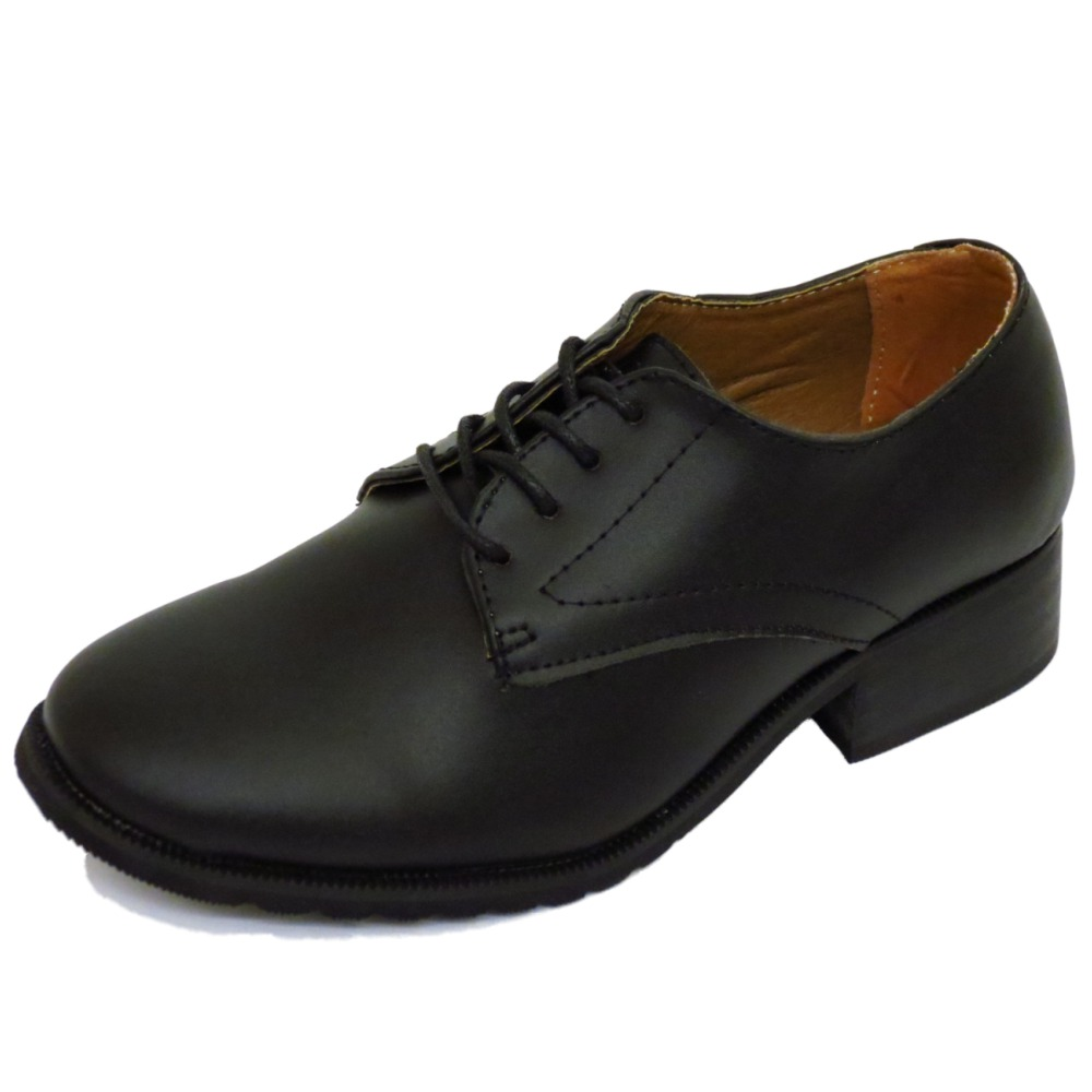 Flat Smart Black Leather Shoes