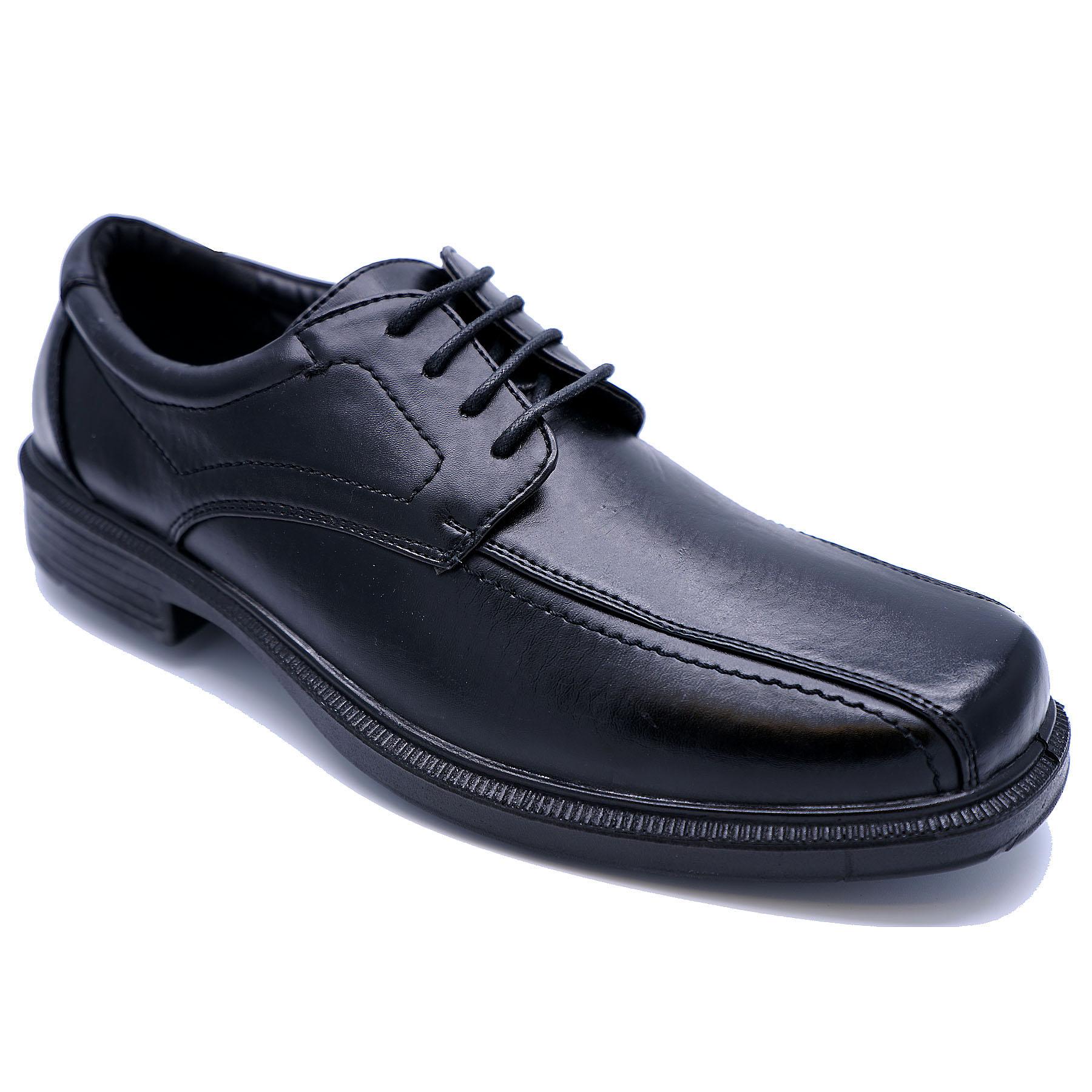 Para Hombre Negro con Cordones Mocasines Informales Inteligentes Boda De Trabajo Escuela Zapatos Tallas 8-11