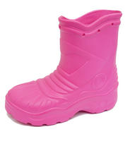 View Item KIDS GIRLS CHILDRENS PINK EVA SPLASH RAIN WELLY WELLINGTON BOOTS SHOES SIZES 8-2