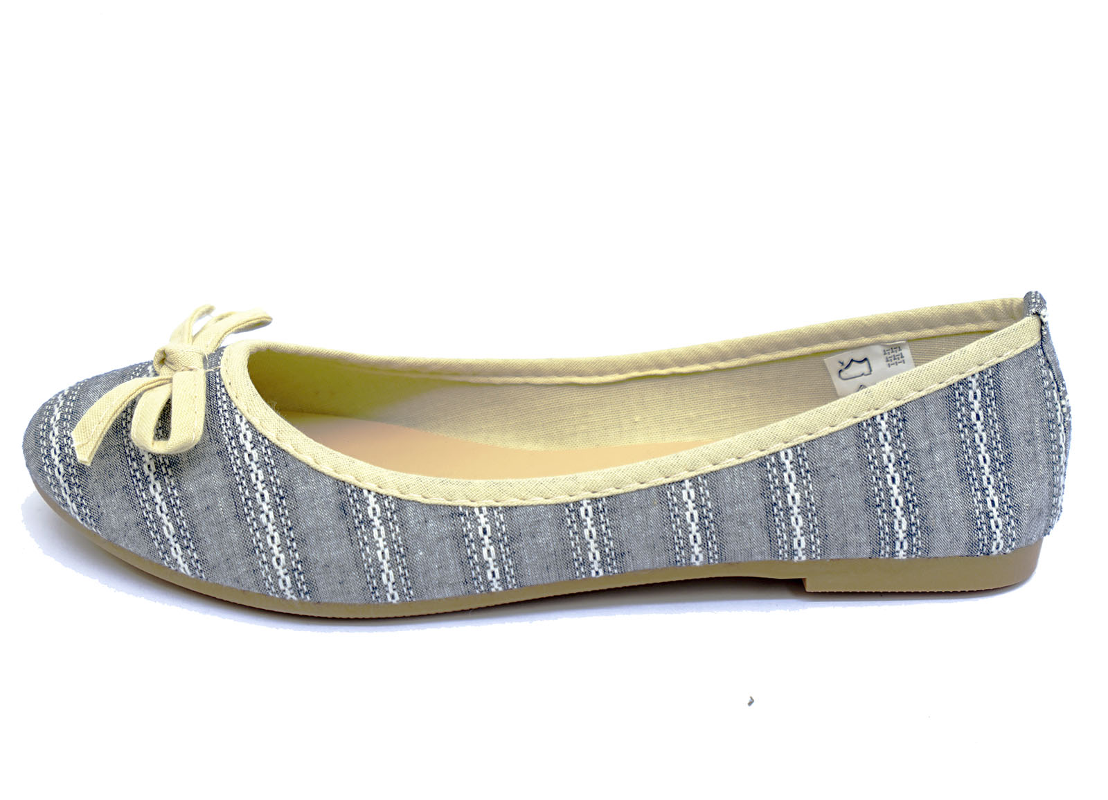 Señoras Sin Cordones Plana Cómoda Ballet Bailarina Bombas Dolly Trabajo Niñas Zapatos UK 3-9