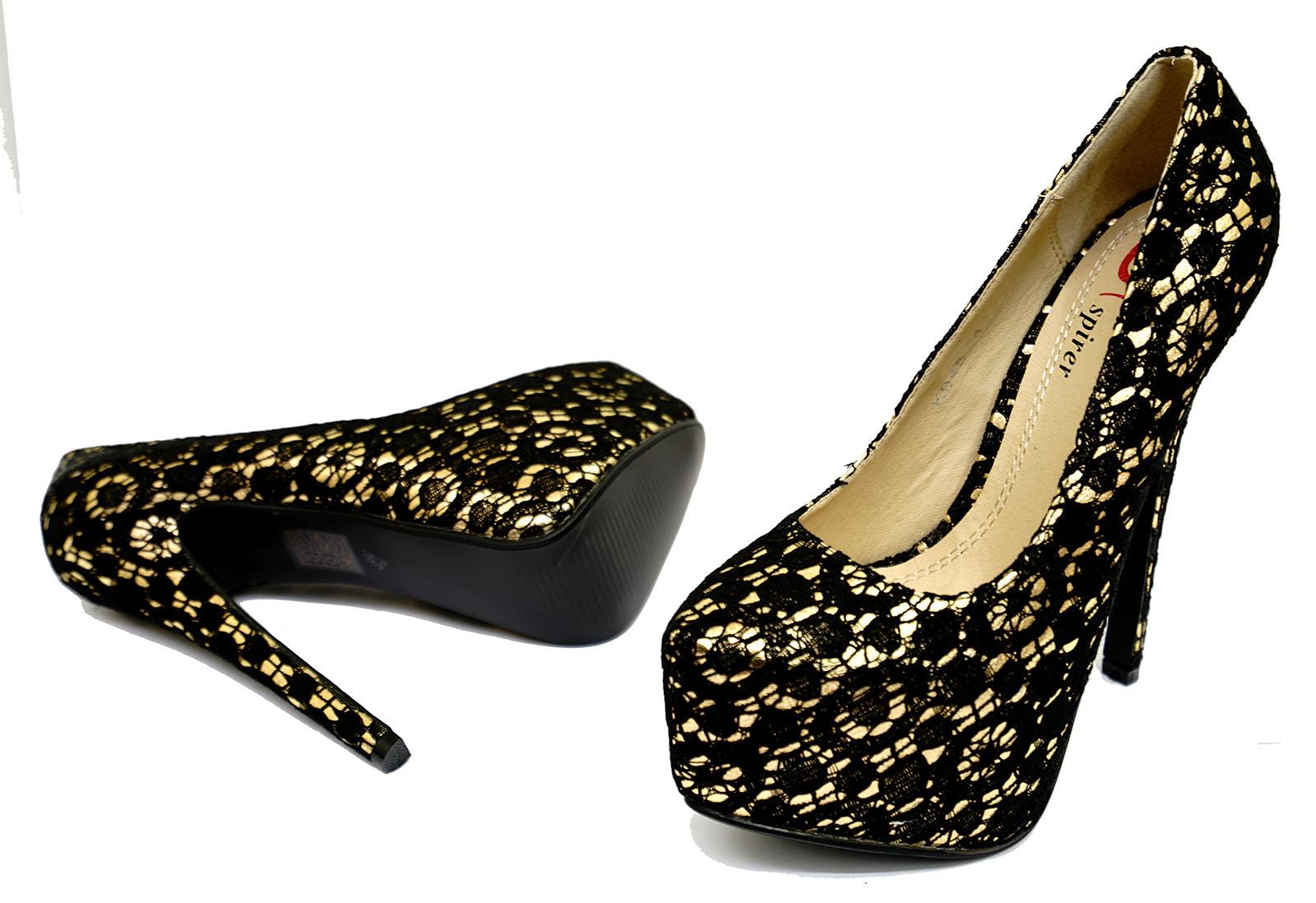 Platform Shoes Gold Ebay Uk