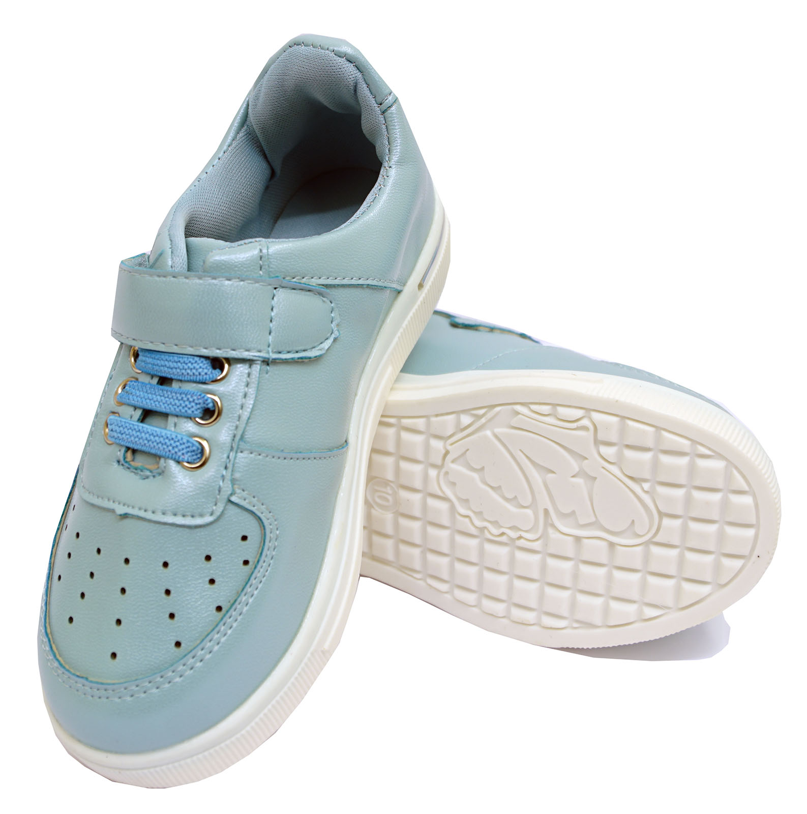 GIRLS KIDS CHILDRENS BLUE CASUAL SPORTS TRAINERS SHOES PLIMSOLL PUMPS SIZES 8-2