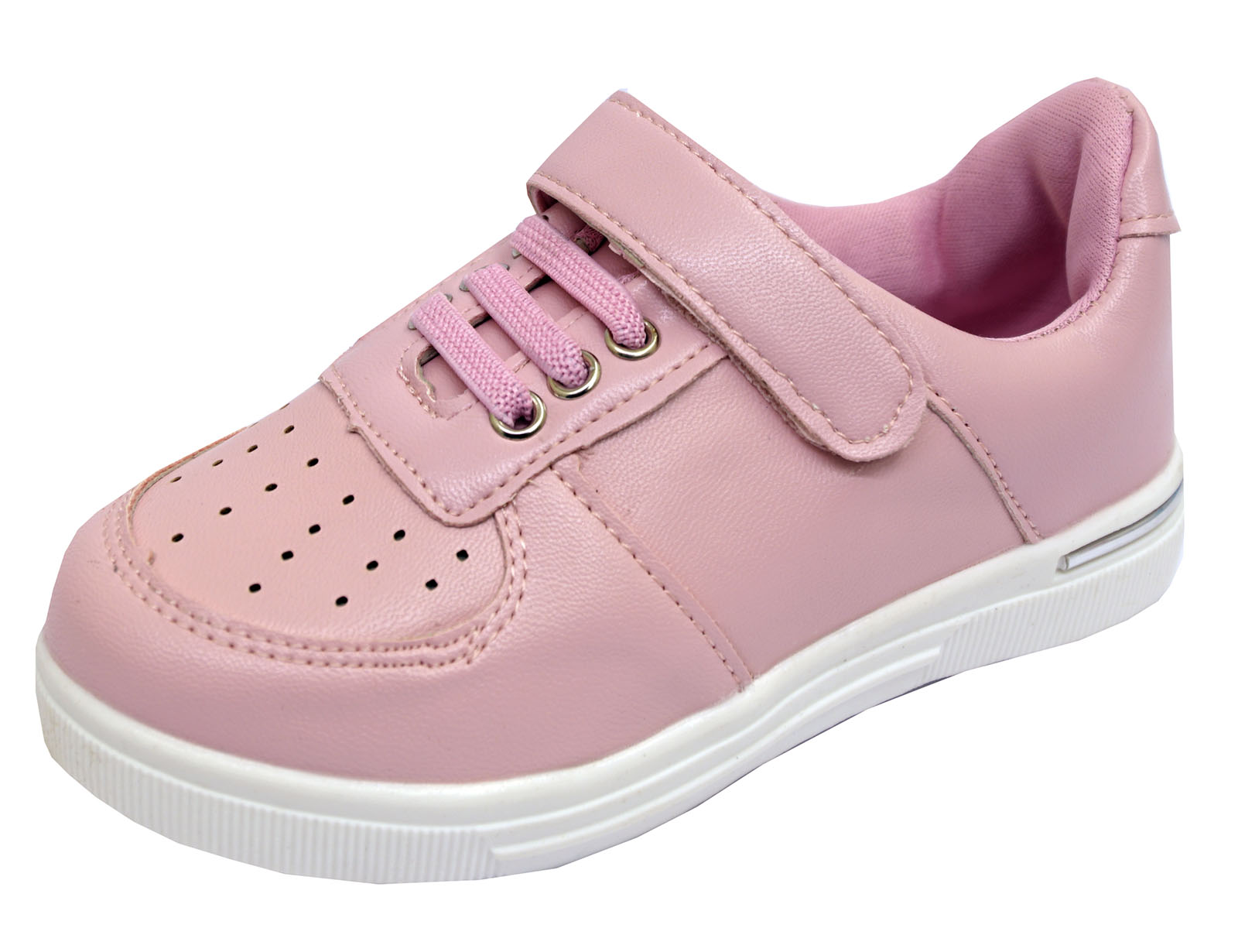 GIRLS KIDS CHILDRENS PINK CASUAL SPORTS TRAINERS SHOES PLIMSOLL PUMPS SIZES 8-2