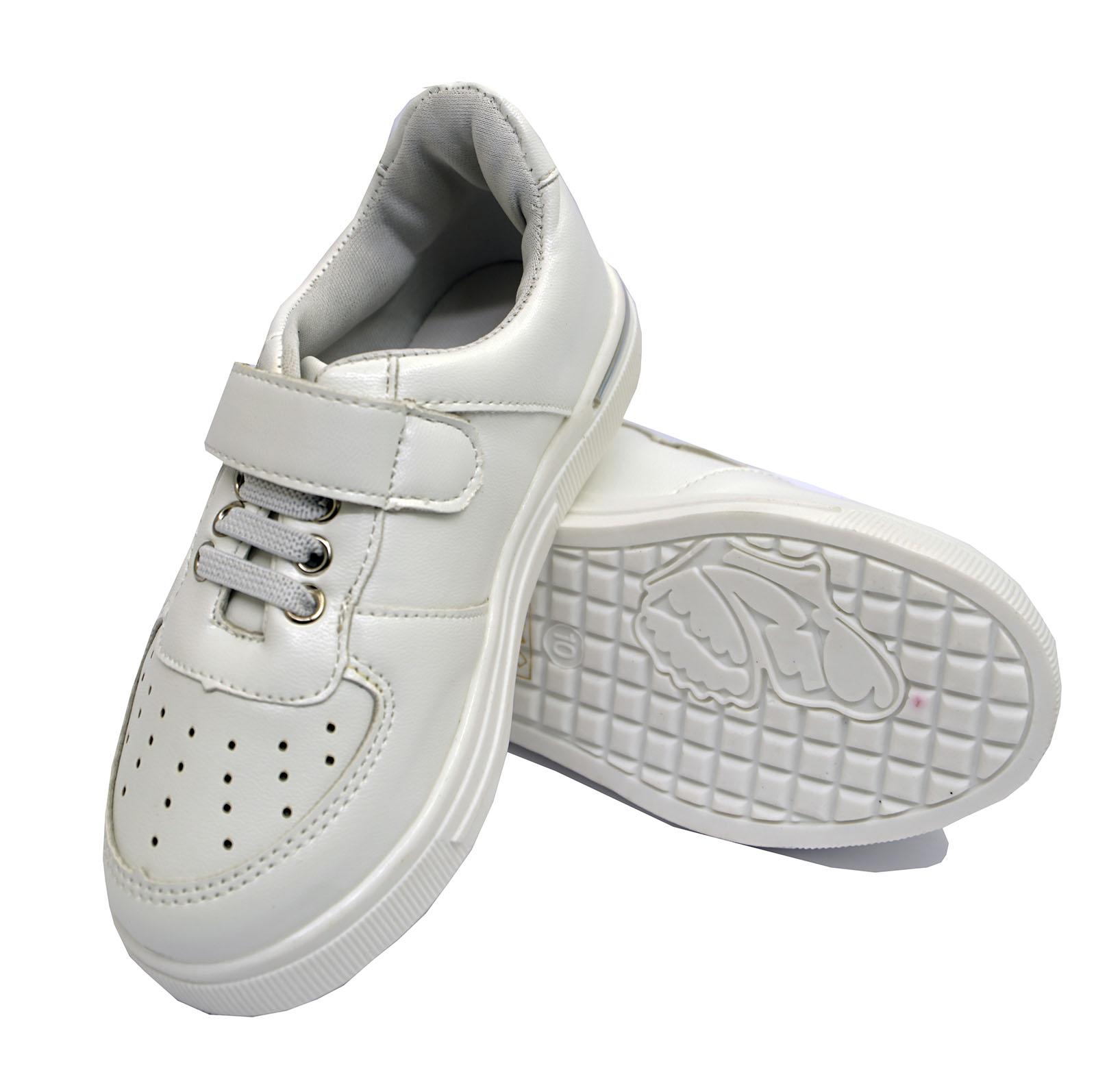 Chicas chicos niños Childrens Blanca Casual Deportes Zapatillas Zapatos Playera Zapatos De Salón 8-2