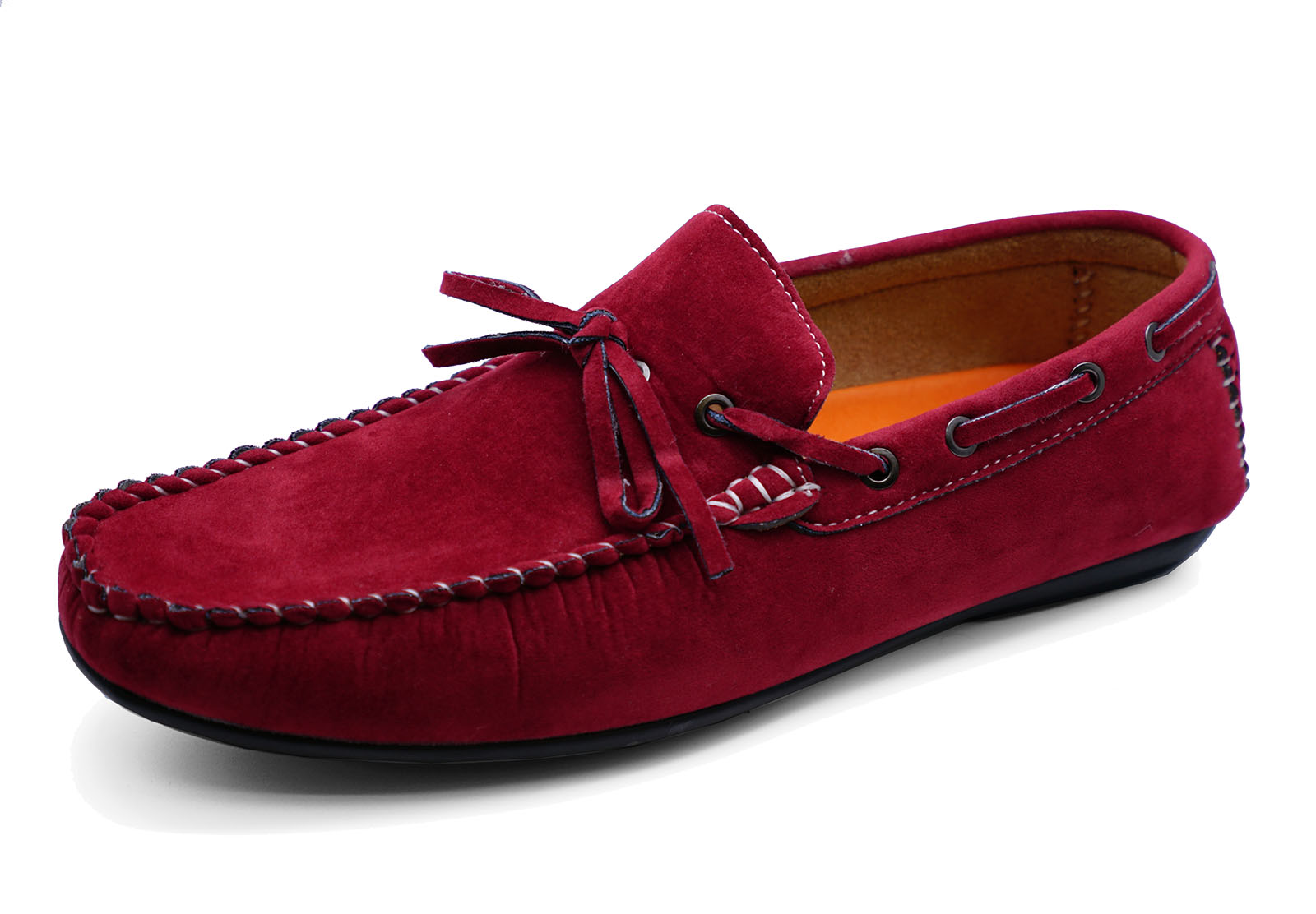 MENS-RED-SLIP-ON-MOCCASINS-LOAFERS-DRIVING-COMFY-BOAT-DECK-CASUAL-SHOES-6-11