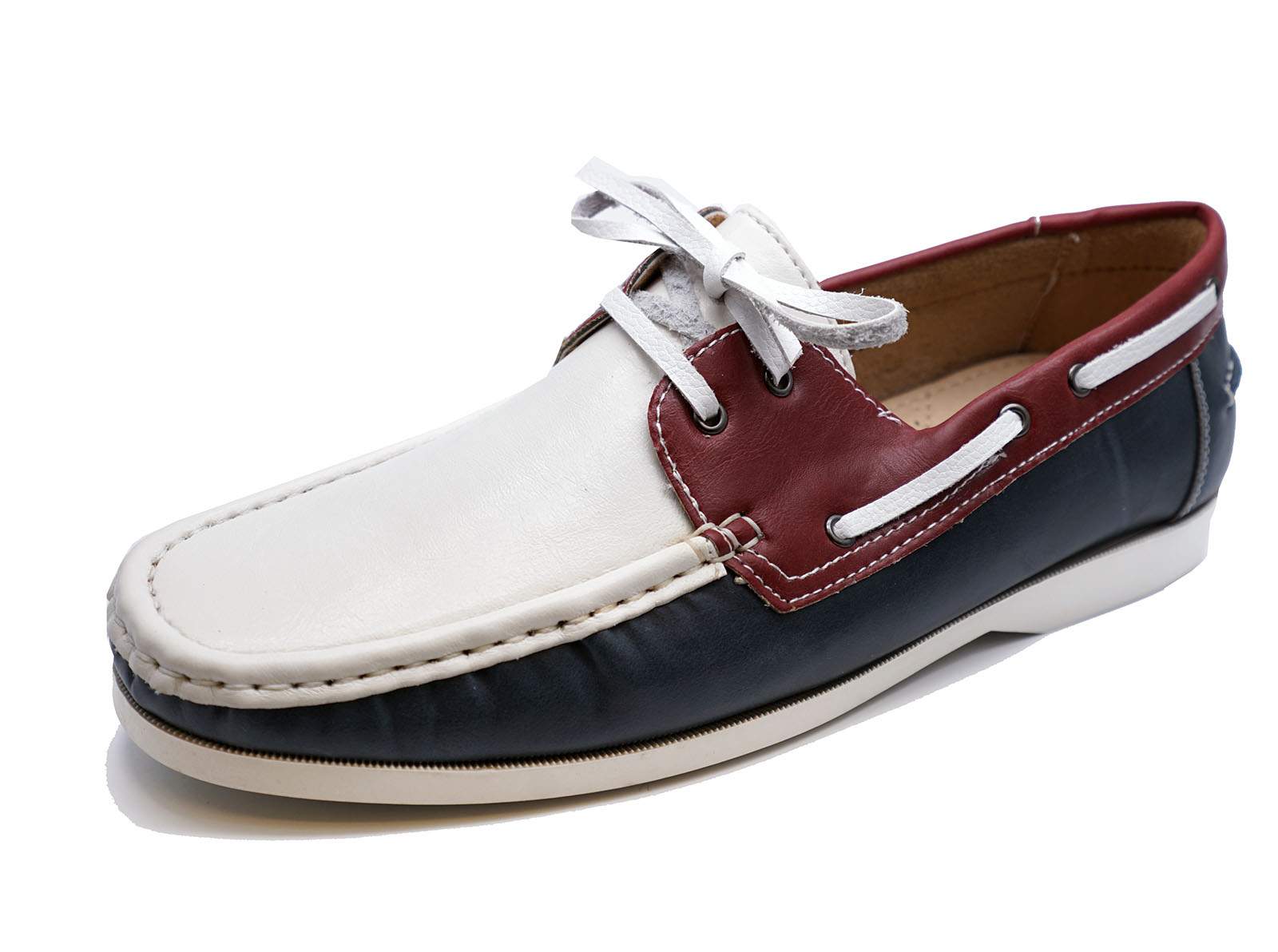 mens white yacht loafers driving lace up moccasin deck