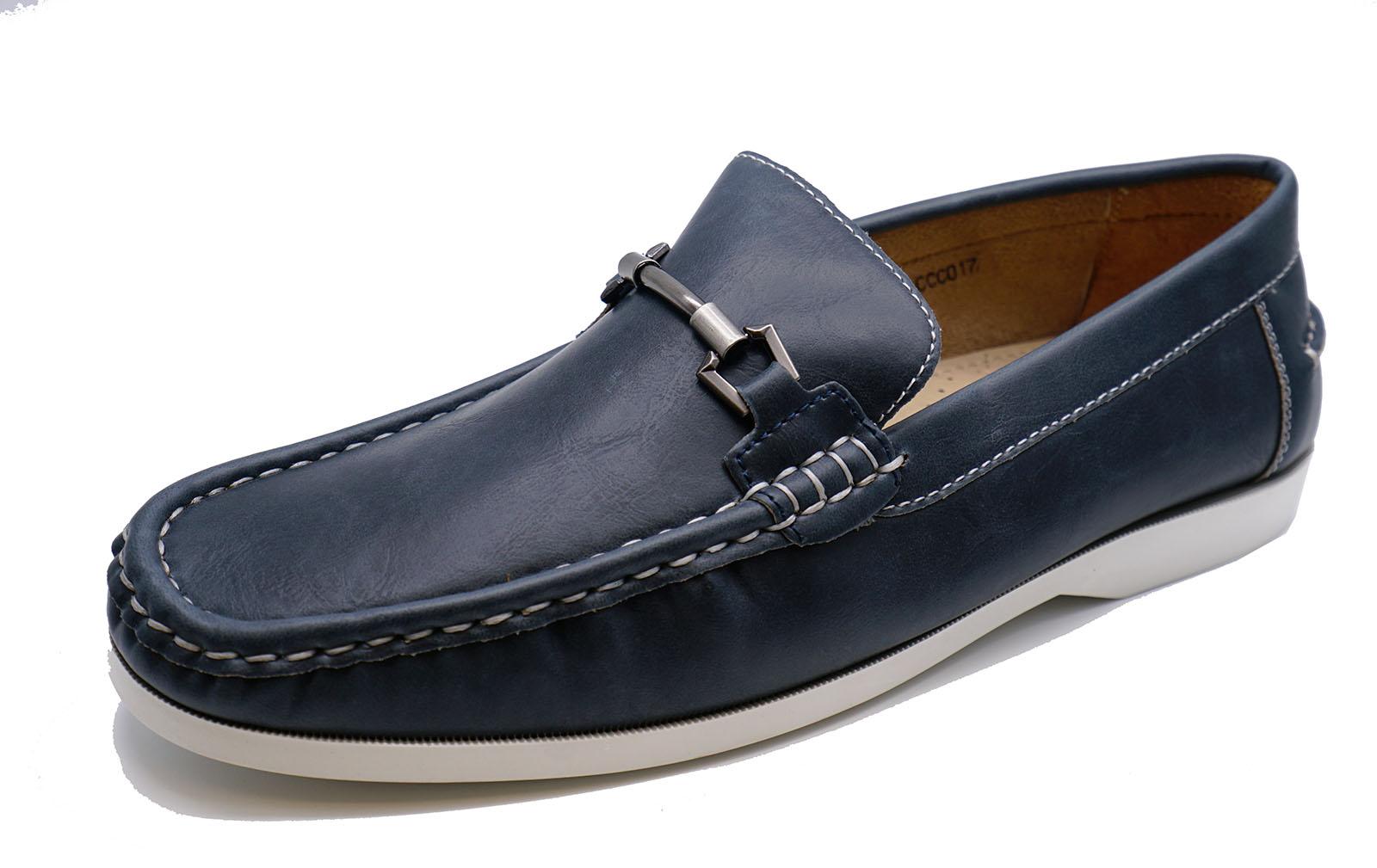 Para Hombre Azul marino Yate para manejar Mocasines Sin Cordones Cómodos Zapatos de Cubierta Inteligente en 6-11