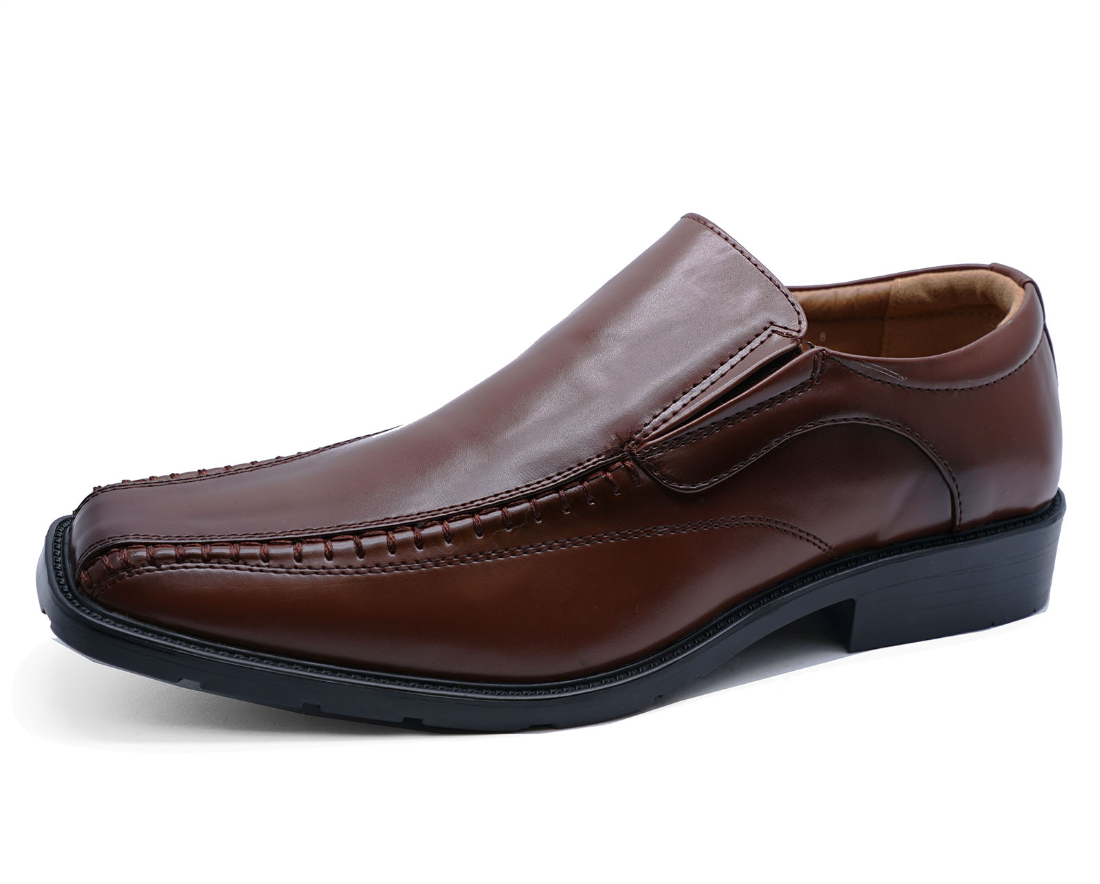 Homme Marron Slip-on Work Mariage Smart Mocassins Casual Formelles Chaussures UK 5-10