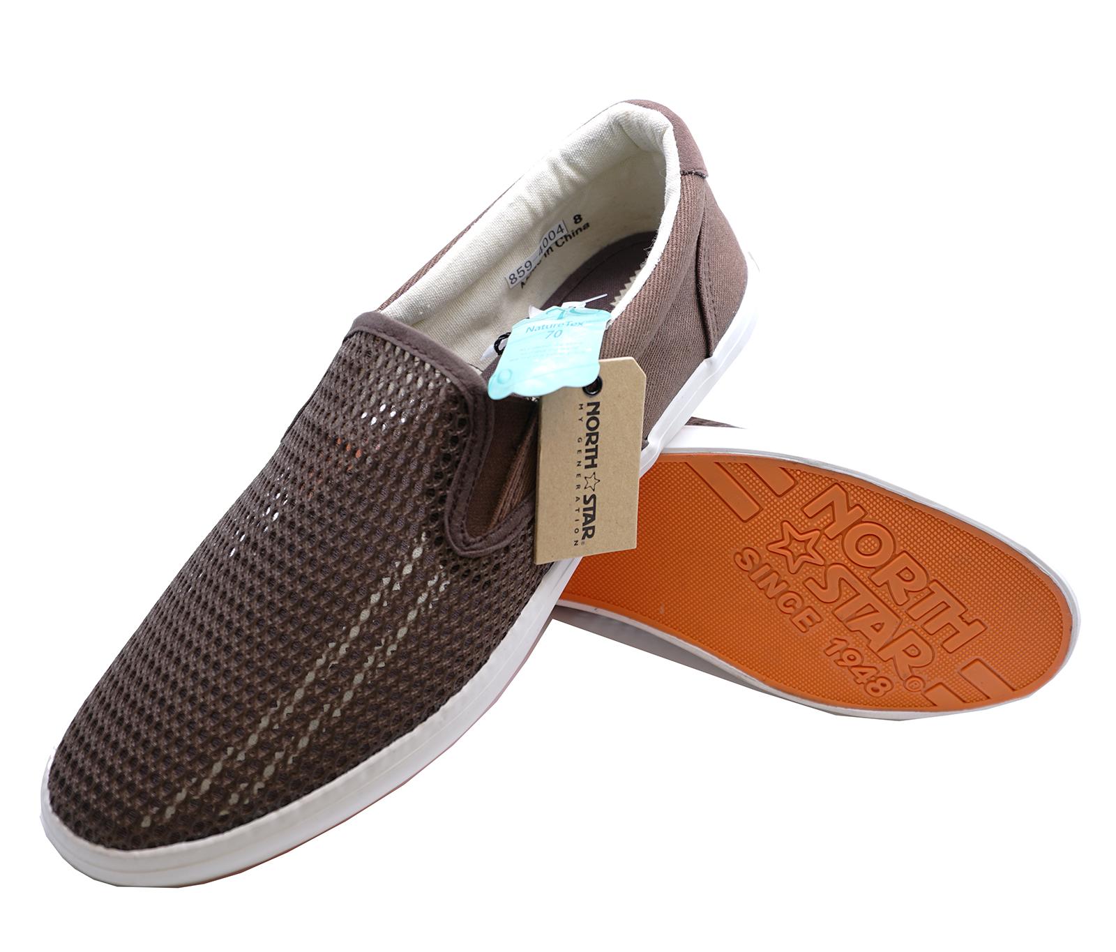 Homme Slip-on Marron Plat Baskets Lacets Escarpins Casual Deck Driving Shoes UK 6-11