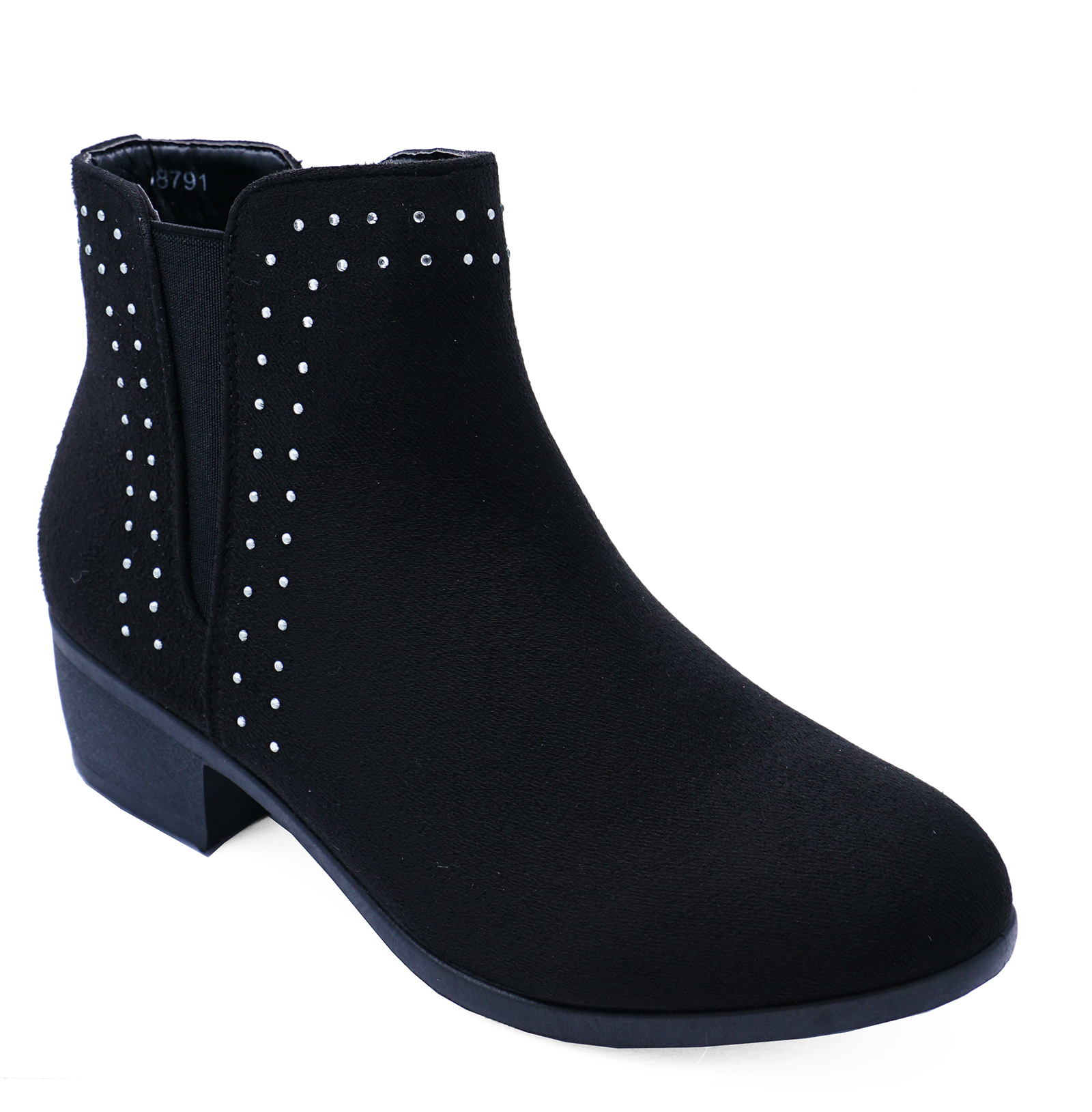 LADIES BLACK CHELSEA COWBOY SMART CASUAL WORK PULL-ON FLAT BOOTS SHOES UK 3-8