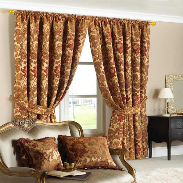 Belgravia Chenille Jacquard Lined Pencil Pleat Curtains