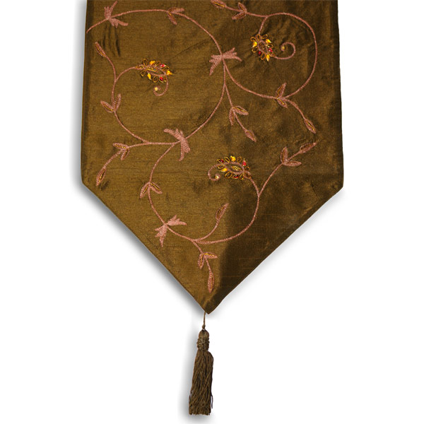 Paoletti beethoven faux silk table runner ebay for 102 table runners