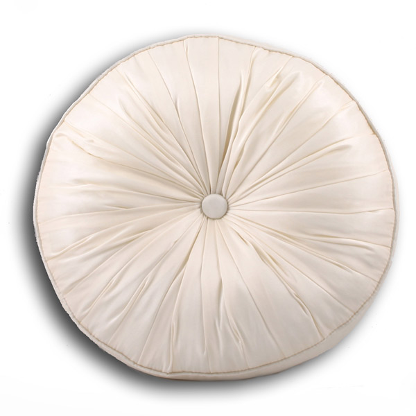 Cirque Sateen Button Filled Round Cushion 35 Cm Diametre  : cique round cushion cream 35 0 from www.ebay.co.uk size 600 x 600 jpeg 51kB