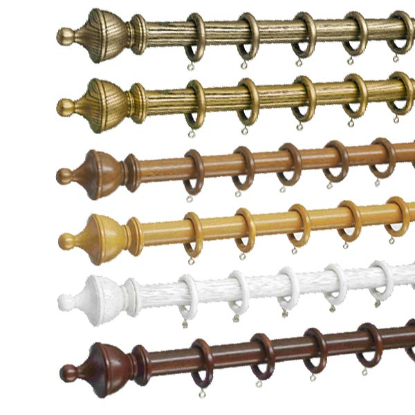 Swish Romantica 50mm Wooden Curtain Pole Set   eBay