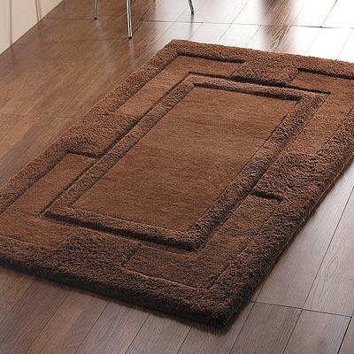 Chocolate rugs roselawnlutheran for Chocolate brown bathroom rugs
