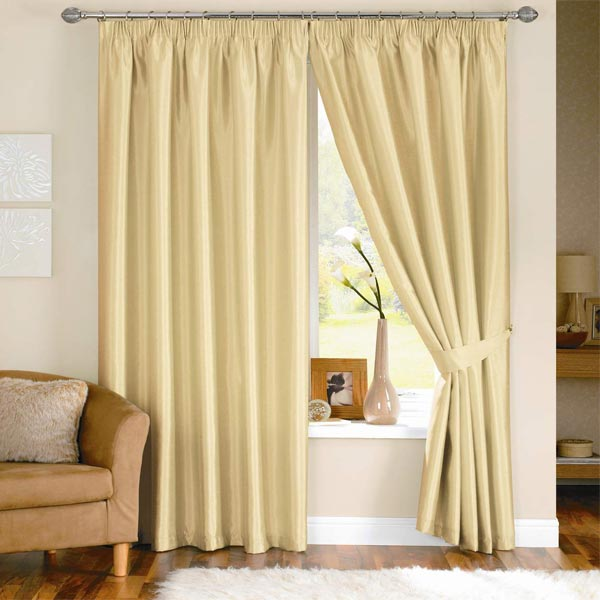 java lined eyelet faux silk curtains in black next day delivery