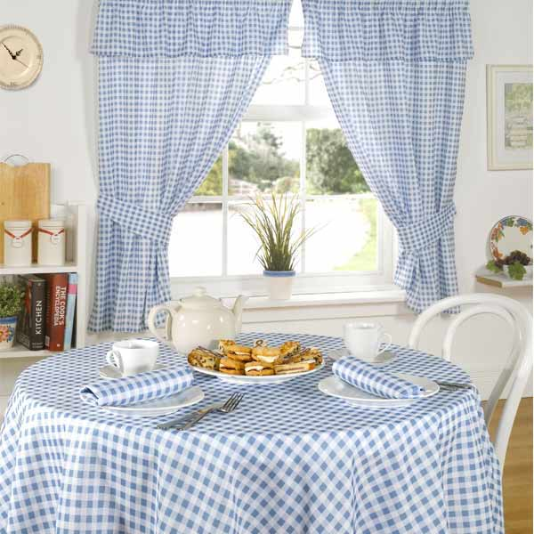 Details about molly gingham check kitchen pencil pleat curtains