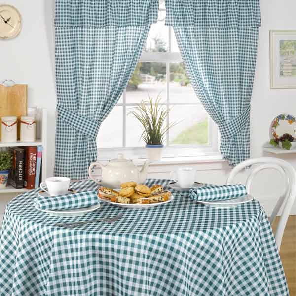 Emma Barclay Molly Gingham Check Kitchen Pencil Pleat Curtains | eBay