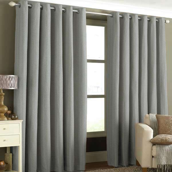 Tobago Woven Embellished Lined Eyelet Curtains Ebay