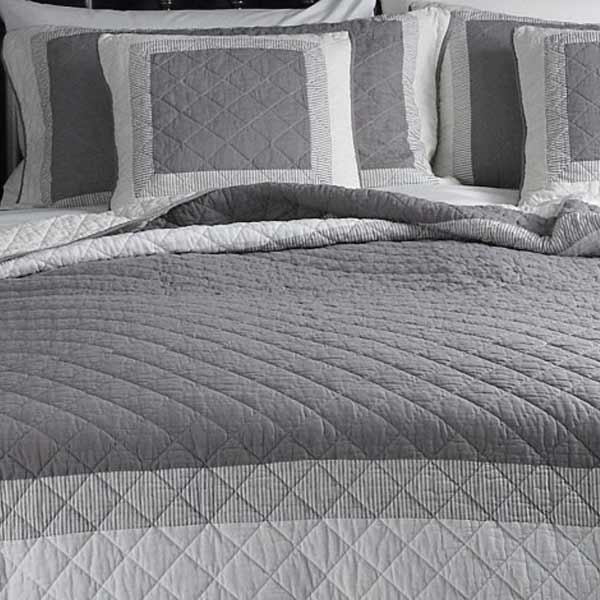 Quilt Bed Spread & Amazon.com: French Country Patchwork Quilted ... : gray quilted bedspread - Adamdwight.com