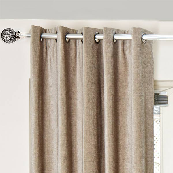Scatter Box Chloe Chenille Lined Eyelet Curtains
