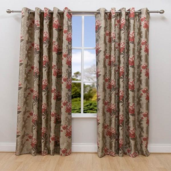 Scatter box pasha floral embroidery lined eyelet curtains