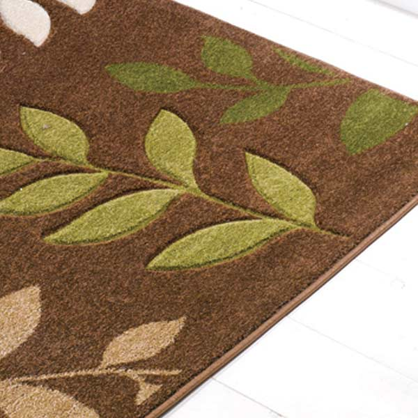 Brown Green Rug Home Decor