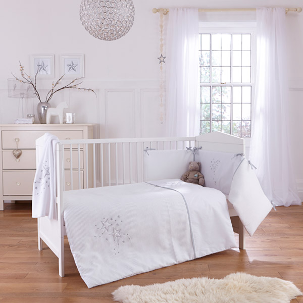 Clair de Lune Stardust 3 Piece Cot Bed Quilt Bedding Bale