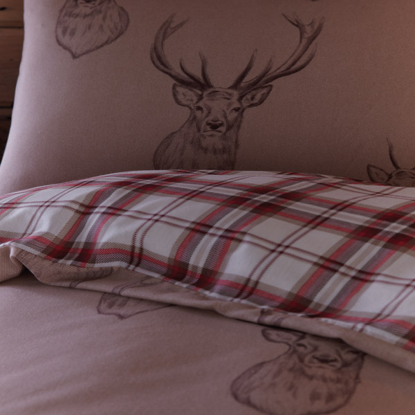 Stag Print Duvet Cover Set Multi Ebay