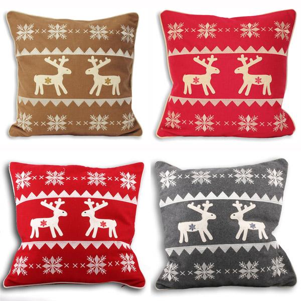 Ideal Textiles Merry Christmas Cushion Cover, Luxury Chenille Christmas Cover, Festive Xmas Holidays Cushions, 18