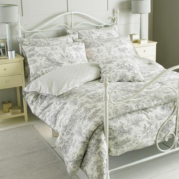 paoletti canterbury tales toile de jouy en pur coton housse de couette ebay. Black Bedroom Furniture Sets. Home Design Ideas