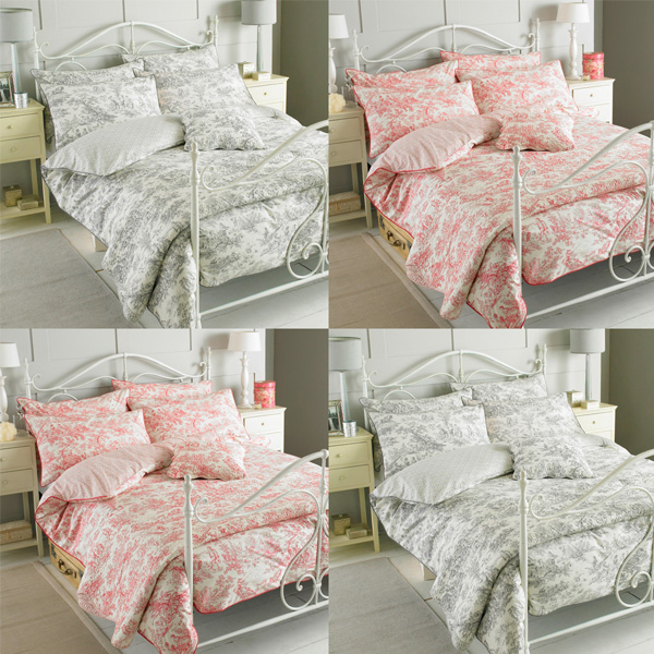 Pink Toile Bedding Designs