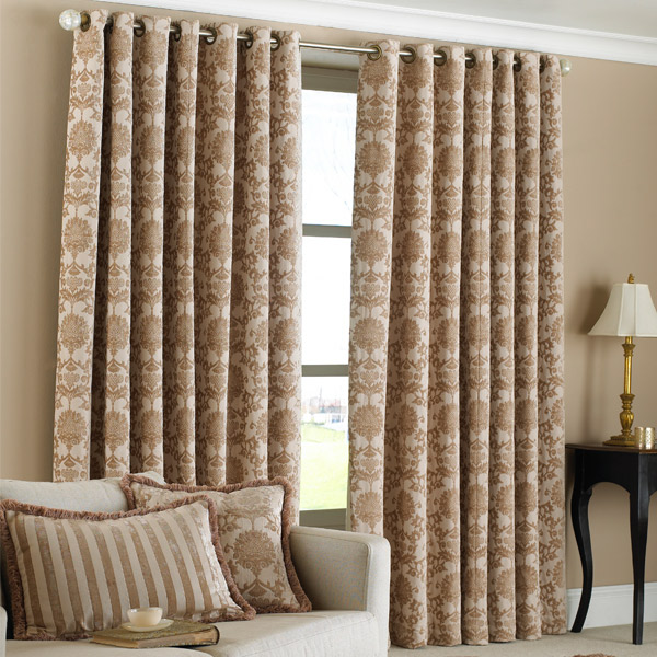 paoletti hanover chenille jacquard lined eyelet curtains 90 x 90 inch ebay. Black Bedroom Furniture Sets. Home Design Ideas