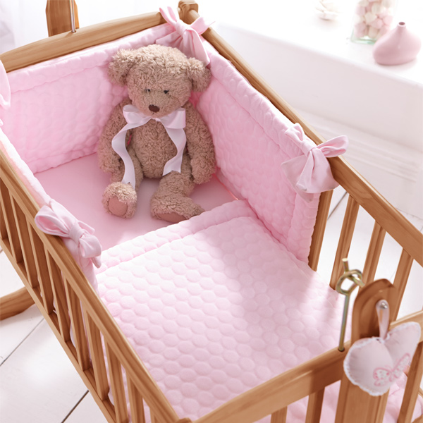 Clair De Lune Marshmallow 2 Piece Crib Cradle Quilt