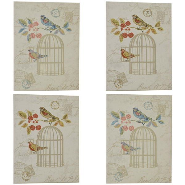 Wall Art Canvas Shabby Chic : Iliv shabby chic song bird canvas wall art