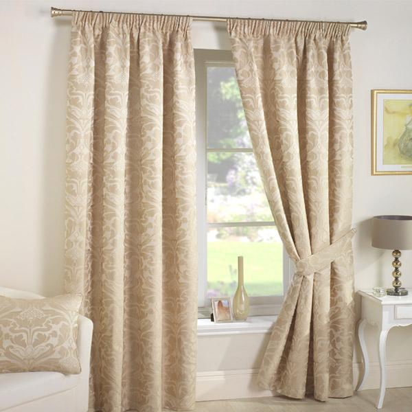 Curtina Crompton Damask Jacquard Pencil Pleat Lined Curtains | eBay