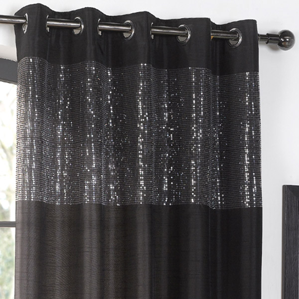 Curtains Ideas black and white panel curtains : Eyelet Curtain Panels - Rooms