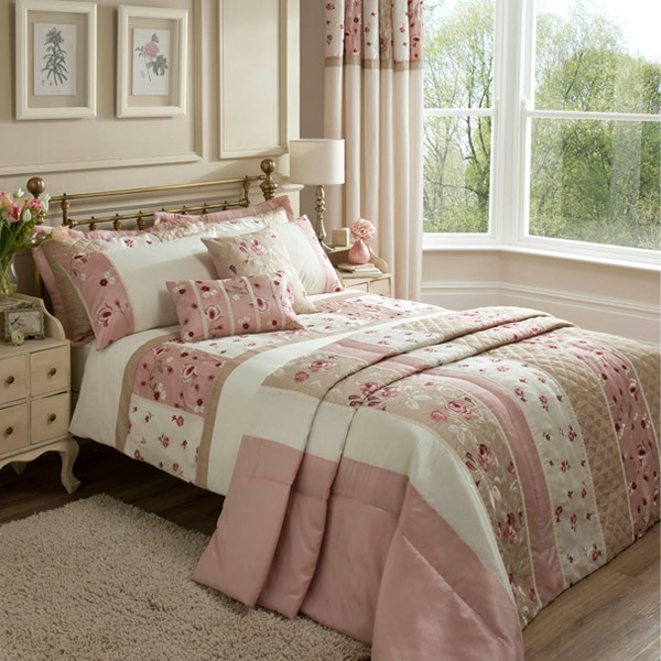 Catherine lansfield imogen de cubierta de edred n seda de imitaci n rosa ebay - Edredon de seda ...