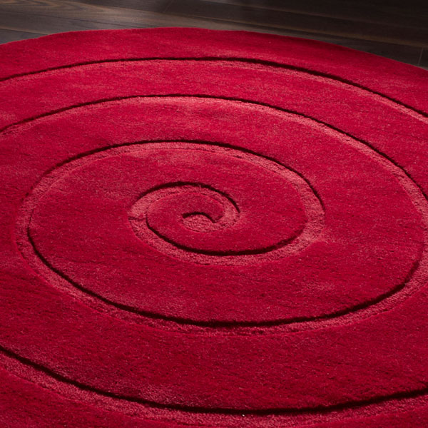 Attractive Red Round Rugs Roselawnlutheran