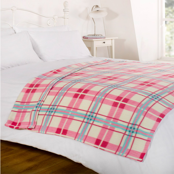 Dreamscene Tartan Fleece Blanket