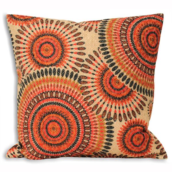 riva home peacock geometric cushion cover ebay