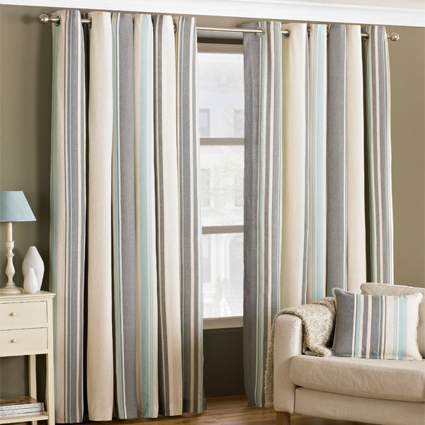 riva home broadway stripe woven lined eyelet curtains ebay. Black Bedroom Furniture Sets. Home Design Ideas