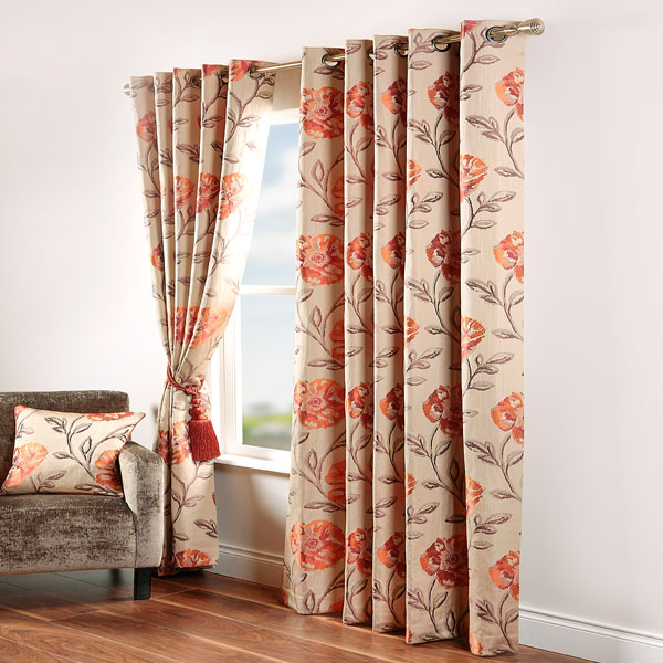 Sentinel Scatter Box Maisey Floral Jacquard Eyelet Curtains