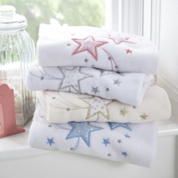 Clair de Lune Stardust Fleece Blanket