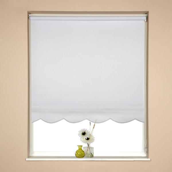 Speedy Plain Uv Scalloped Edge Roller Blind D160cm Ebay